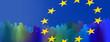 Leinwandbild Motiv europa menschen silhouetten zeichen panorama