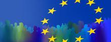 Europa Menschen Silhouetten Ze...