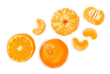 Tangerine Or Mandarin Isolated...