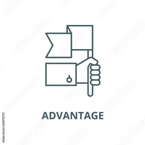 Photo Advantage vector line icon, linear concept, outline sign, symbol