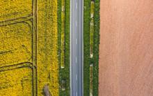 Aerial Shot Of Agricultural La...