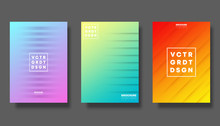 Set Of Colorful Gradient Cover For Flyer, Poster, Brochure, Typography And Other Printing Products