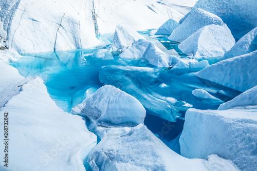 Lake on top of the Matanuska Glacier in Alaska Tapéta, Fotótapéta