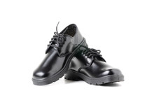 New Leather Student Shoes Isol...