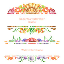 Watercolor Rectangle Frames Wi...