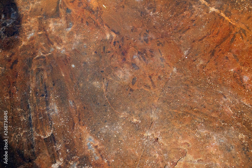 Leinwand Poster  Rocks with Striations and Grooves at Sand Beach, Acadia National Park, Bar Harbor Maine A gorgeous beach surrounded by interesting rocks, cliffs and forest