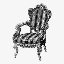 Vintage Chair Illustration