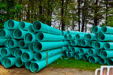 Green Plastic Pipes For Drains...
