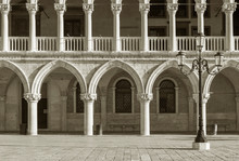 Architectural Detail - Doge's Palace In St Mark's Square In Venice (Palazzo Ducale), Italy
