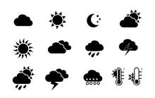 Weather And Seasons. Vector Ic...