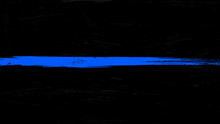 Thin Blue Line Flag With Grung...