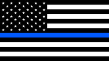 USA Flag With A Thin Blue Line...