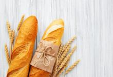 Freshly Baked Baguette Bread