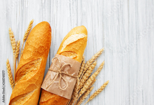 Freshly baked baguette bread Canvas Print