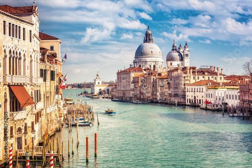 Obraz na plátně  Grand Canal and Basilica Santa Maria della Salute in Venice