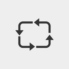 Circulation Vector Icon Solid Grey
