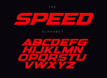 Speed Letters Set. Red Race Fo...