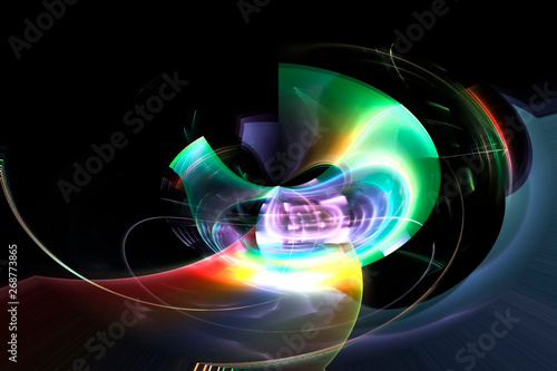 fantasy fractal background energy abstract design