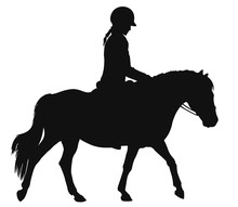 Silhouette Of A Girl On A Pony