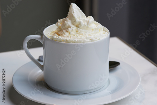 Photo  A cup of delicious cafe ou chocolat viennois