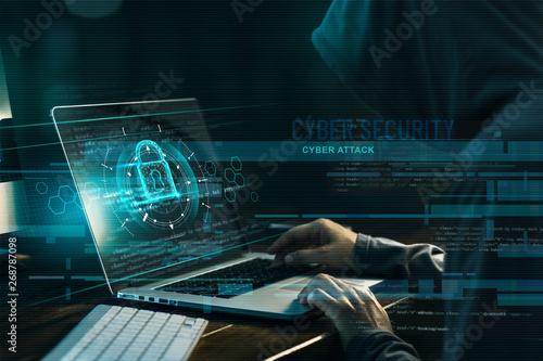 Fotografia  Cyber security concept