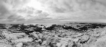 Scenic Beach Landscape With Rocks At Asilomar Dunes, California