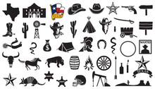 Texas Vector Icons Set (flag,...