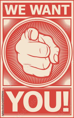 Fototapeta we want you vector poster