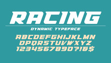 Racing Display Font Design, Al...