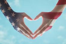 America Flag Pattern On People...