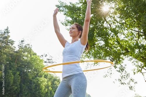 Fotografie, Obraz Frau macht Fitness Training