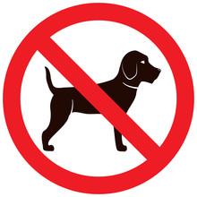 No Dog Sign.Pet Animal Beagle....