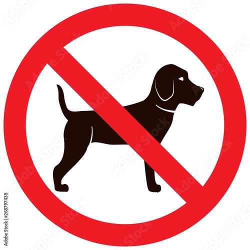 Fotomural  No dog sign