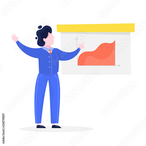 Businessman make presentation with graph and chart - Buy this stock