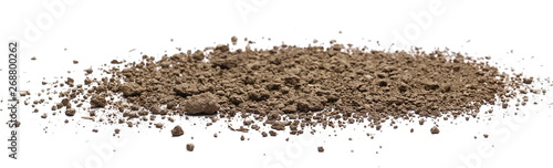 Foto Dirt, soil isolated on white background