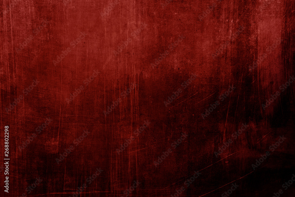 Fototapety, obrazy: Red stained grungy background or texture