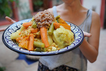 Closeup Of Typical Cuscus Dish Of Morocco