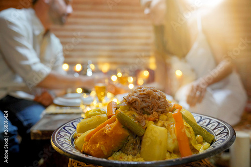 Fotomural Closeup of typical cuscus dish of Morocco