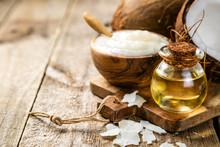 MCT Coconut Oil Concept - Coco...