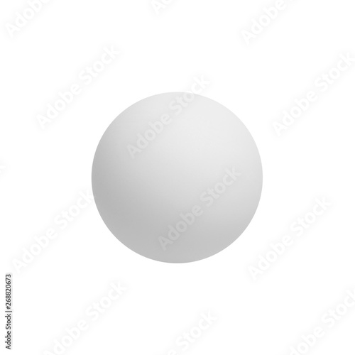 Fotografie, Obraz Ping pong ball isolated on white