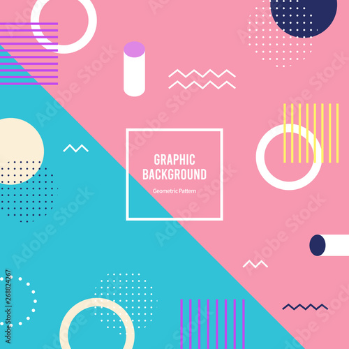 flat geometric pattern. graphic vector background.