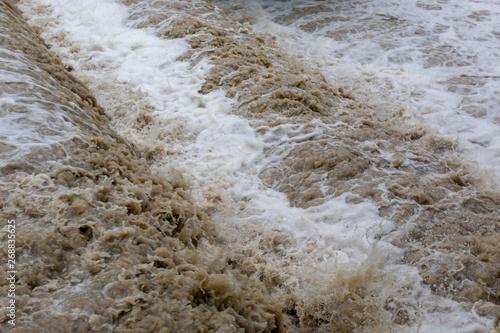 Cuadros en Lienzo river flooding climate changes greenhouse effect