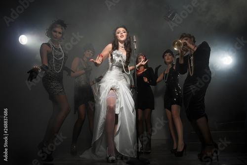 Women have fun on bachelorette party - 268837686