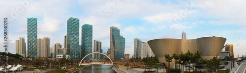 Photo  Panorama view of Central park in Songdo International Business District, Incheon South Korea