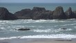 Oregon Seal Rock at high tide zooms in