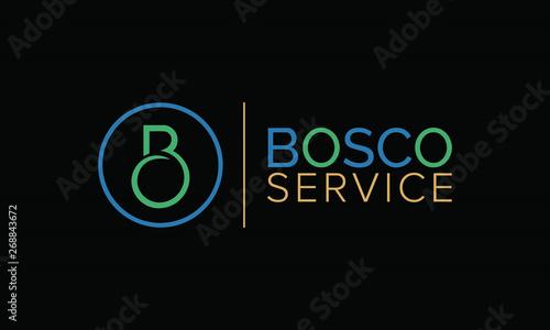 Fototapeta  A clean and modern letter B logo