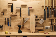 Tools For Carpentry And Skateboard