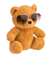 Toy Bear Wearing Sunglasses Is...