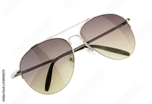 Cuadros en Lienzo Sunglasses isolated white background clipping path