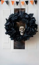Black Wreath  With Plastic Sku...